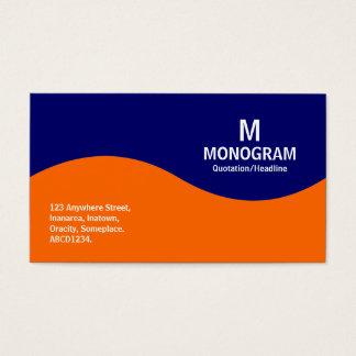 半波モノグラム-濃紺の000066のオレンジ 名刺