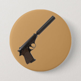 半自動Walther PPK 7.6cm 丸型バッジ