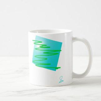半透明な形 コーヒーマグカップ