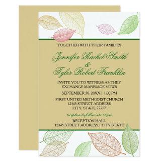 半透明な紅葉- 3X5結婚式か披露宴 カード