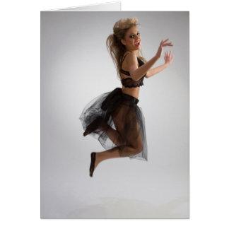 半透明のスカートの美しい女の子 カード