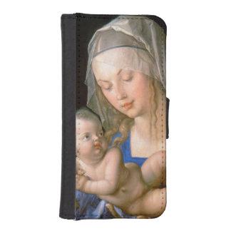 半食べられたナシ1512年を握っているヴァージンおよび子供 iPhoneSE/5/5sウォレットケース