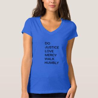 卑しくMicahの正義の慈悲 Tシャツ