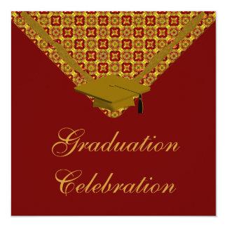 卒業のお祝いのパーティの招待状 13.3 スクエアインビテーションカード
