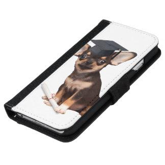 卒業のチワワ犬 iPhone 6/6S ウォレットケース