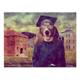 卒業のバセット犬の郵便はがき ポストカード