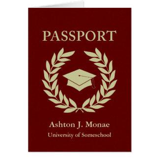 卒業のパスポート カード