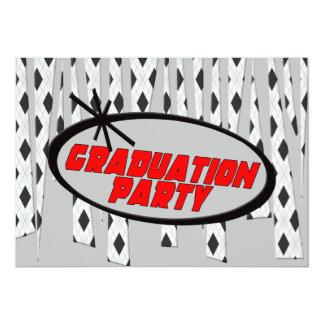卒業のパーティの招待状 カード