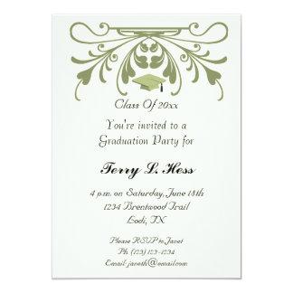 卒業のパーティの招待状 12.7 X 17.8 インビテーションカード