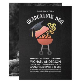 卒業のパーティの招待状| BBQのパーティー 12.7 X 17.8 インビテーションカード