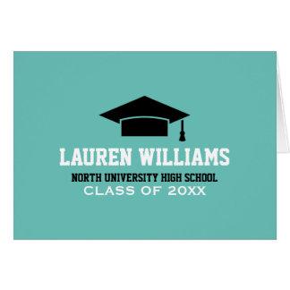 卒業のメッセージカード の卒業生の帽子を個人化して下さい カード