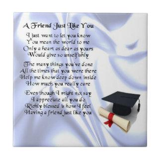 卒業の友人の詩のタイル タイル