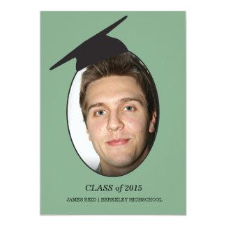 卒業の帽子の卒業 12.7 X 17.8 インビテーションカード