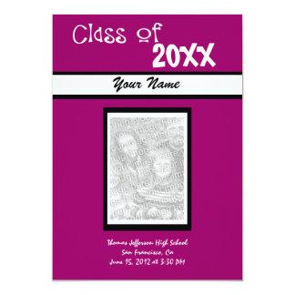 卒業の招待状 12.7 X 17.8 インビテーションカード