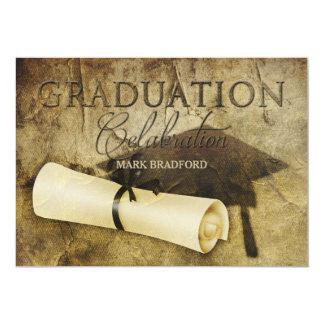 卒業の招待状-素朴なアンティーク- PHOTO/BACK カード