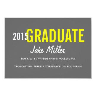 卒業の発表はまたは| yr Photo|greyを誘います カード