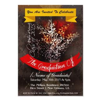 卒業の発表|の招待状 カード