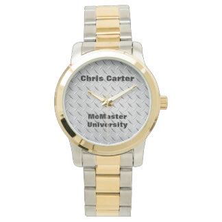 卒業の腕時計-銀、金ゴールドおよび黒 腕時計
