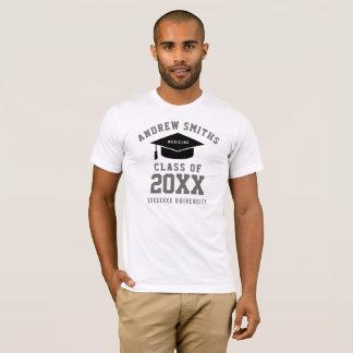 卒業の薬(カスタムな専門職)の白 Tシャツ