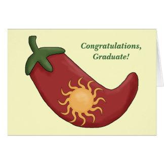 卒業の西部熱く赤いチリペッパーカード- カード