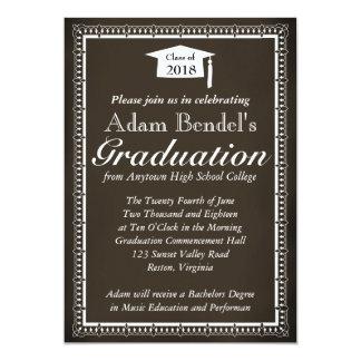 卒業の証明書の発表-黒板 カード