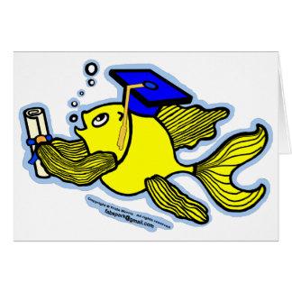 卒業の魚の卒業生 カード