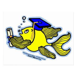 卒業の魚の卒業生 ポストカード