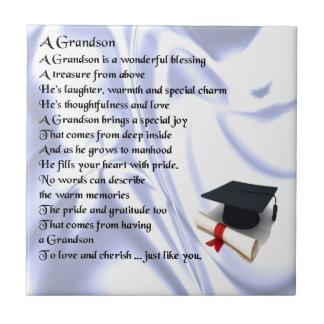 卒業の   孫の詩 タイル