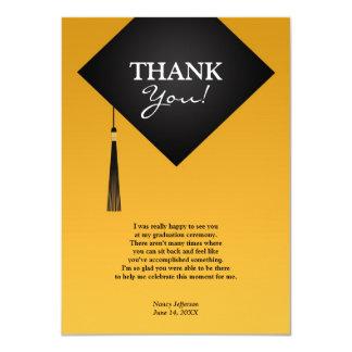 卒業のBlack Hat会議の平らなカードありがとう カード