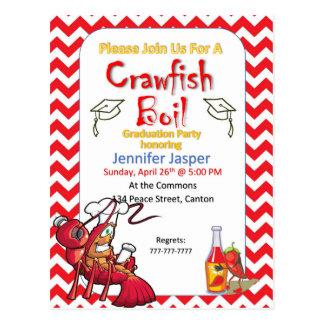卒業のCrawfishの沸騰パーティの招待状 ポストカード