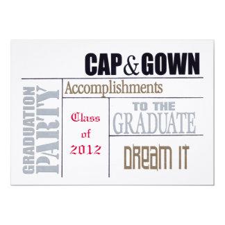 卒業カード 12.7 X 17.8 インビテーションカード