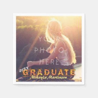 卒業パーティーのカスタムな写真のBohoの2018年のシックなかわいい スタンダードカクテルナプキン