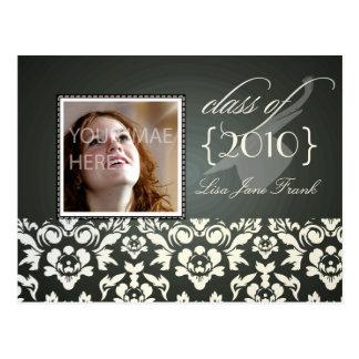 卒業パーティーの招待の郵便はがき ポストカード