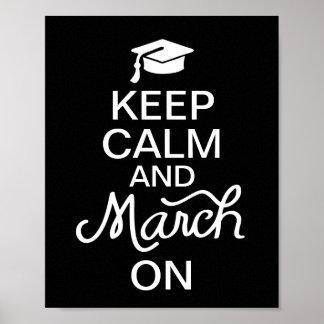 卒業ポスターの平静そして3月を保って下さい ポスター