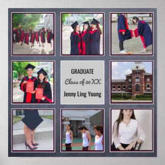 卒業ポスターは写真の壁の芸術の黒板を加えます ポスター