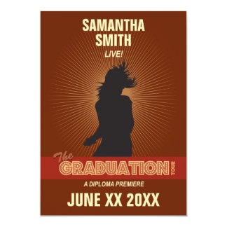 卒業旅行の招待状(女の子) カード