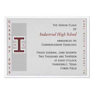 卒業生の招待 11.4 X 15.9 インビテーションカード