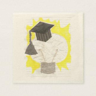 卒業生の球根のベージュ色のナプキン スタンダードカクテルナプキン
