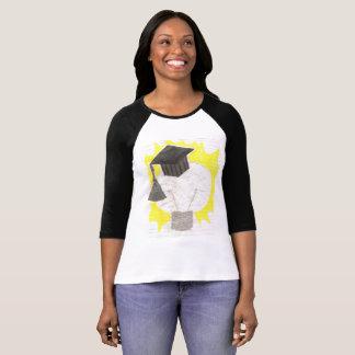 卒業生の球根の女性のRaglanの上 Tシャツ
