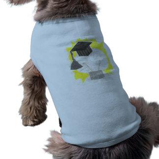 卒業生の球根犬のTシャツ ペット服