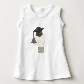 卒業生の球根背景のベビーの服無し ドレス