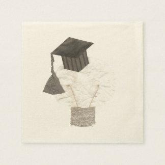 卒業生の球根背景のベージュ色のナプキン無し スタンダードカクテルナプキン