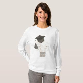 卒業生の球根背景の女性無しのジャンパー Tシャツ