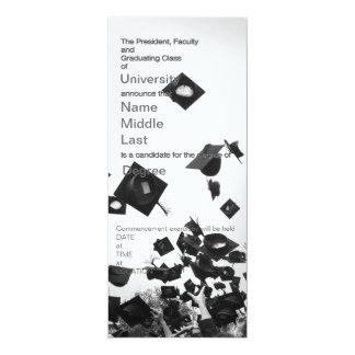 卒業生のannouncment 10.2 x 23.5 インビテーションカード