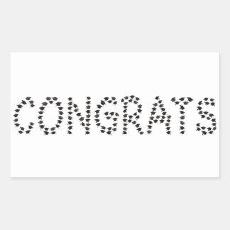 卒業生へのおめでとう 長方形シール