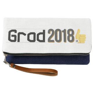 卒業生2018の親指はクラッチを持ち上げます クラッチバッグ