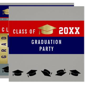 卒業生/スタイリッシュな卒業パーティー 13.3 スクエアインビテーションカード