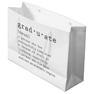 卒業生 ラージペーパーバッグ