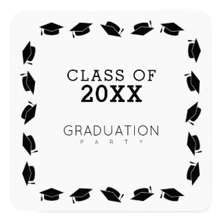 卒業生/卒業パーティーの白 カード