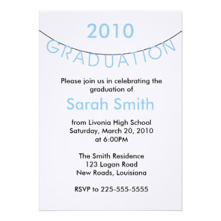 卒業 オリジナル招待状